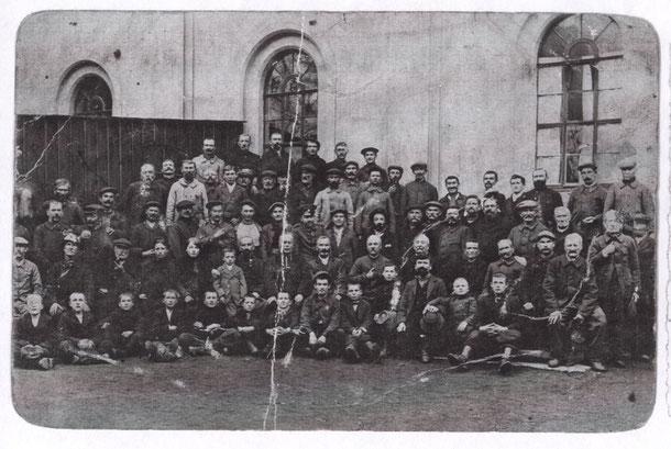 Les prisonniers civils en partance pour Bayreuth