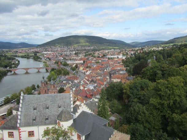 Blick über Miltenberg vom Bergfried der Mitenburg © Simon Ernst