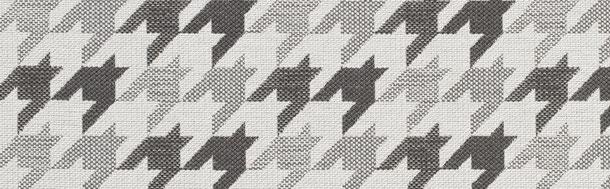 Supellex Sofia Ohrensessel, Fernsehsessel mit Armlehnen und Hocker Design: Webstoff, Hahnentritt, grau