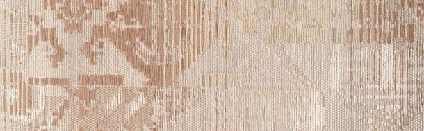 Supellex Sofia Ohrensessel, Fernsehsessel mit Armlehnen und Hocker Design: Ornamente, beige, braun