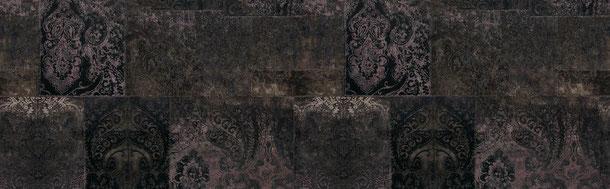 Patchwork Ornamente, mytstik violett