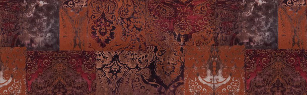 Patchwork Ornamente, rot