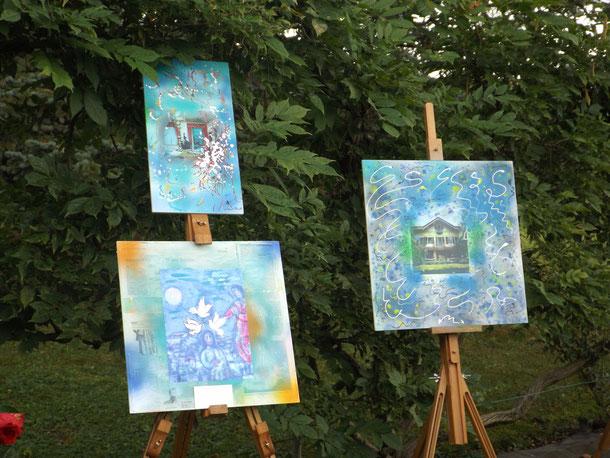 Paintings by Lidia Chiarelli  at Villa Il Meleto, Agliè