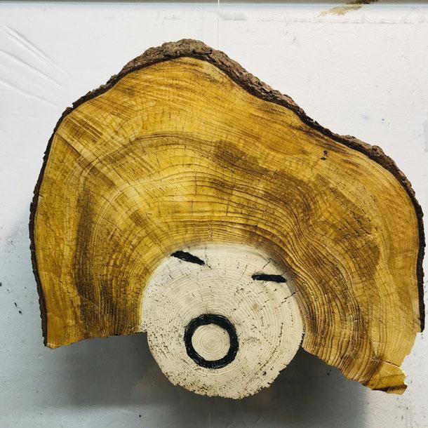Le dernier cri, wood, 50 x 55 x 8 cm, 2021, 8