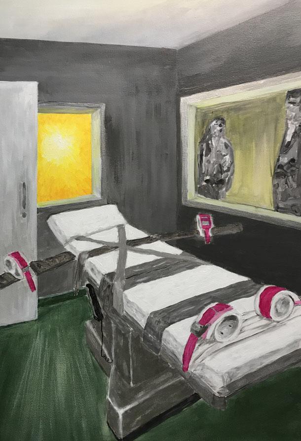 Risen, acrylic on canvas, 90 x60 cm, 2021, 6