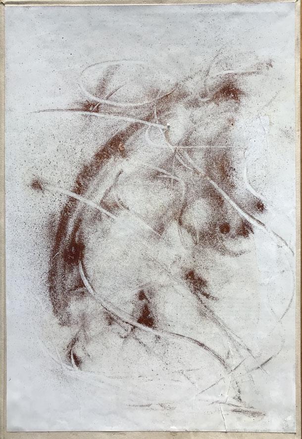 Fog Lady, Cu pigment on cardboard, 29,7 x 21 cm, 2019, 163