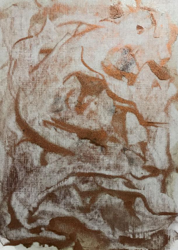Creatures, Cu pigment on cardboard, 29,7 x 21 cm, 2019, 161