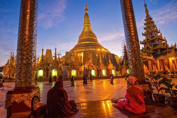 Goldene Pagdode in Yangon