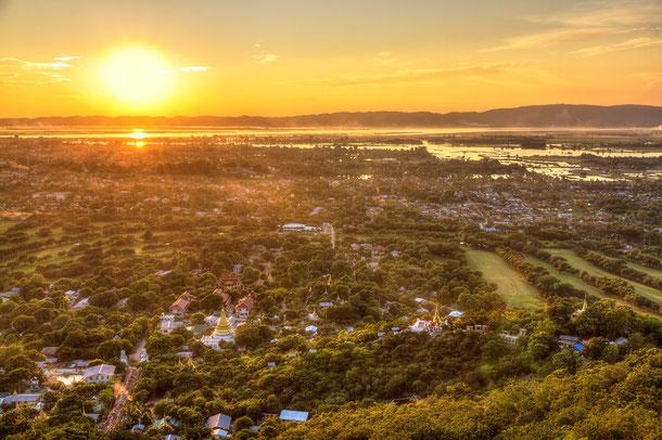 Mandalay: Sonnenuntergang
