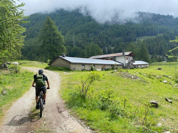 dal borgo di VEDUN ci arrampichiamo con pendenze modeste verso le ampie praterie non prima di aver archiviato un tratto boschivo