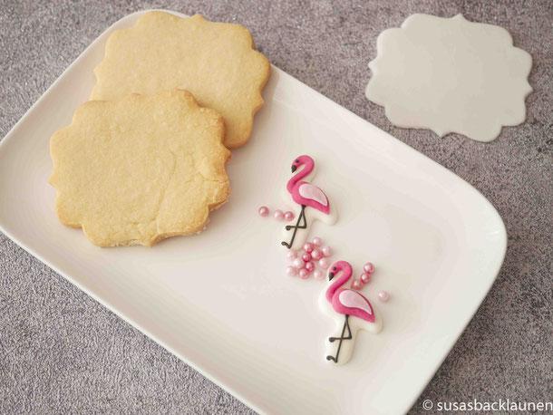Zutaten für Flamingo Fondantkekse