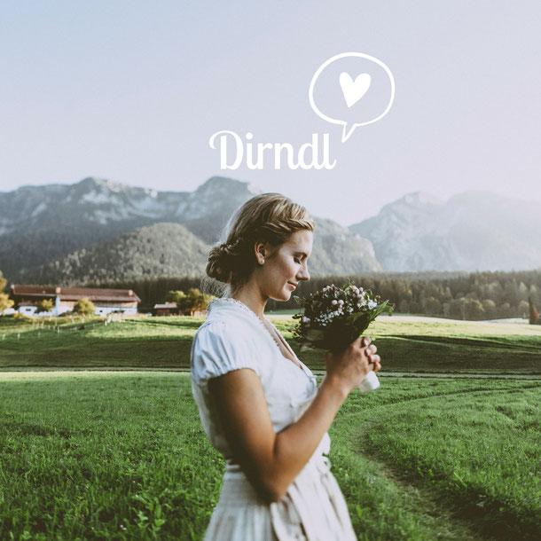 Brautdirndl, Hochzeitsdirndl mit besticktem Leinen Oberteil in creme, Roch komplett gestiftelt mit Schürze aus beiger Seide