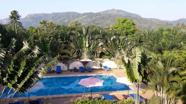 Blick vom Hotel in Kpalimé