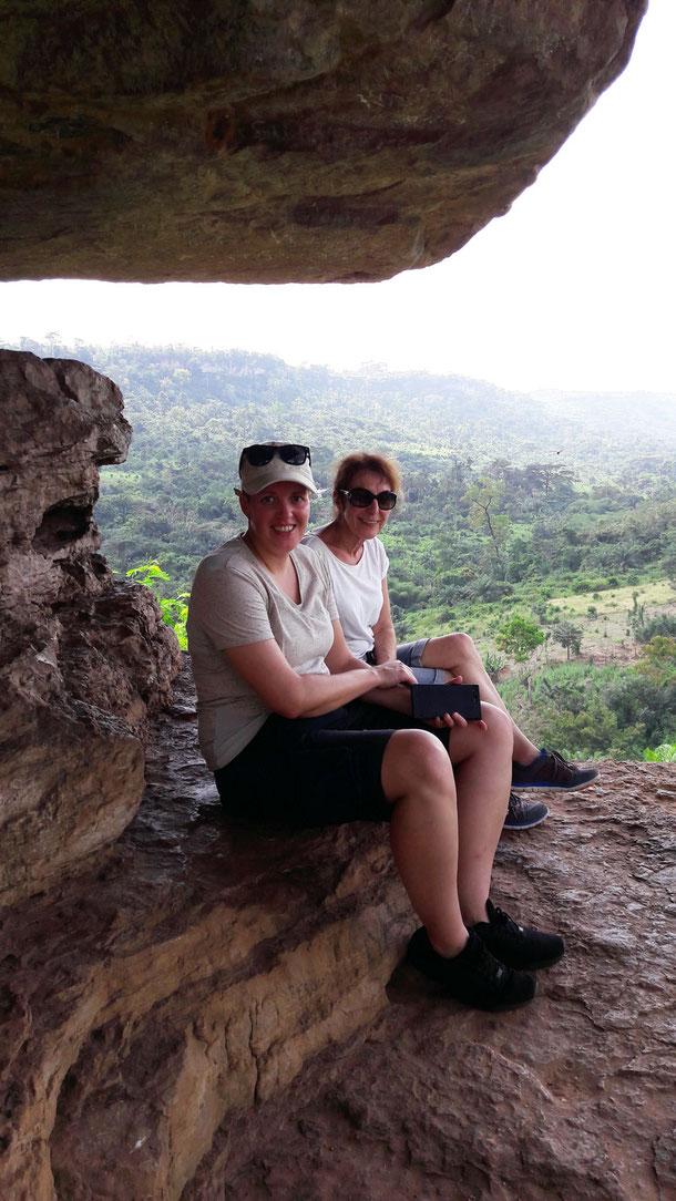 Anja und Uschi auf dem Schirm-Felsen