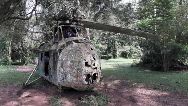 Hubschrauber als Kinderspielplatz