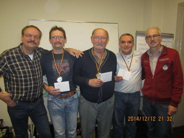 Heinz Okos, Dietmar Hiddersen, Bernhard Ruppert, Enver Glogic, Andreas Flemnitz