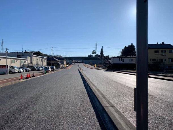 白線が引かれる前の北方トンネル(2020年2月6日撮影)