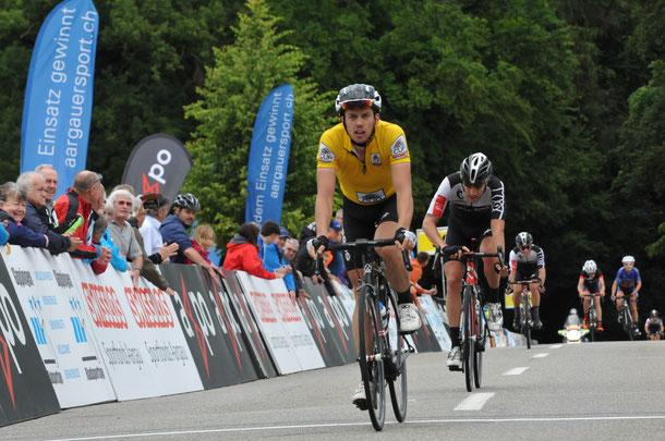 Dank dem dritten Platz verteidigt Cyrille Thièry die Führung im Tour de Suisse-Cup.  (Bild: August Widmer)