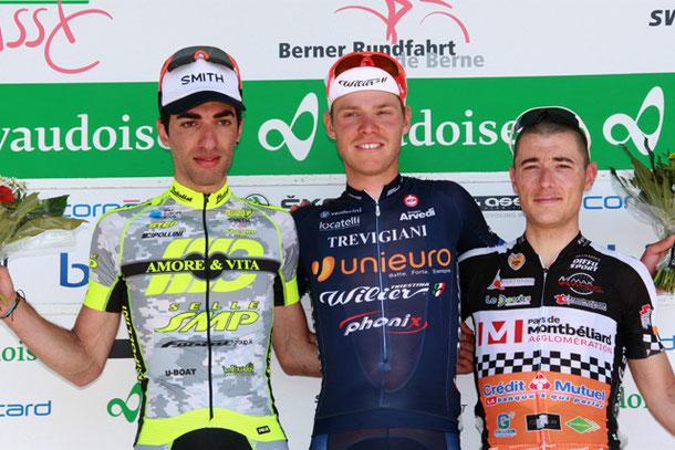 Podest der UCI-Rennens anlässlich der Berner Rundfahrt.