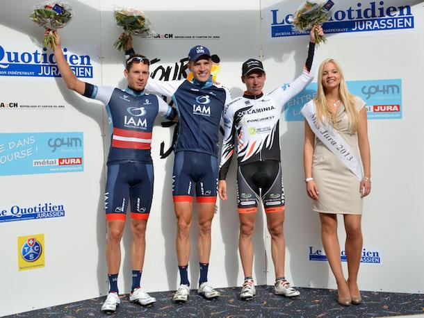 Das Podest der Tour du Jura 2014.