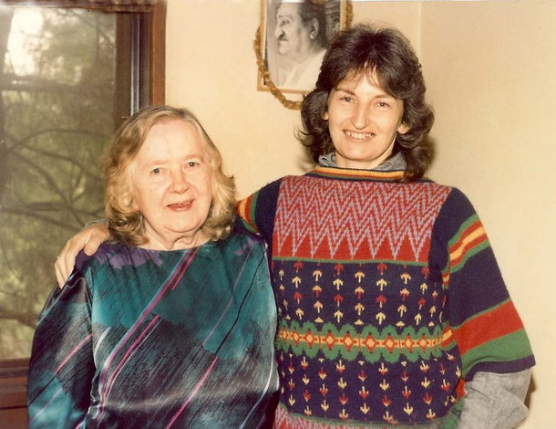 Late 1980s - Melbourne. Clarice with Ann Smith at the Adam's home. Photo taken by Anthony Zois