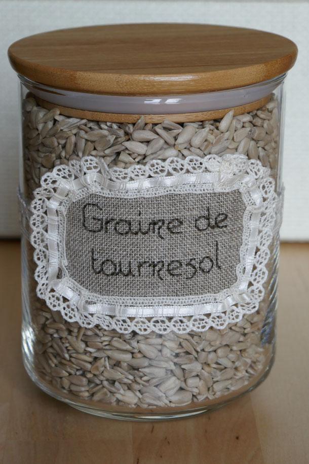 Etiquettes pour pot de graines de tournesol
