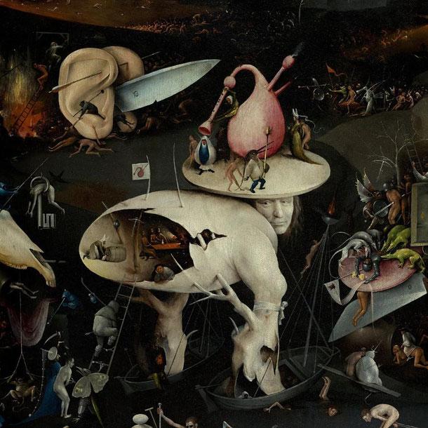 "Hieronymus Bosch, ""Giardino delle delizie"" (1480-1490 circa), particolare"
