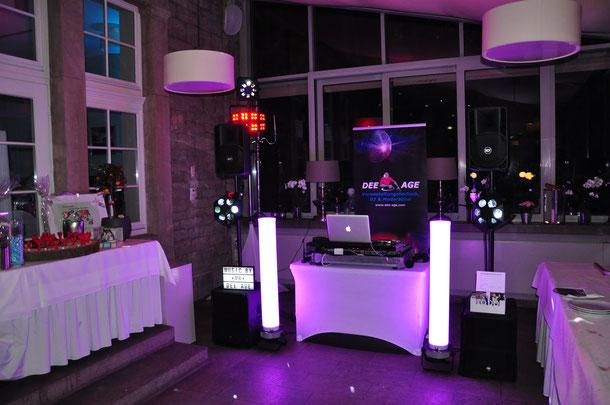 DJ Set von dee-age ohne Haze bei einer Hochzeit in Eisenach