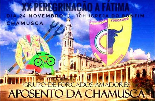 Vigésima peregrinação de bicicleta  ao santuário de Fátima, vamos todos agradecer a nossa Senhora a proteção que nos foi concedida nesta nossa boa temporada, em que nenhum forcado dos nossos sofreu algum acidente  24 de Novembro - Chamusca