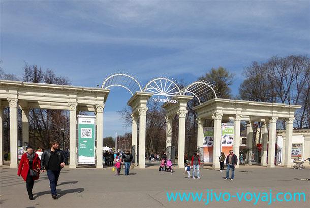 Восстановленный исторический облик главного входа в парк Сокольники