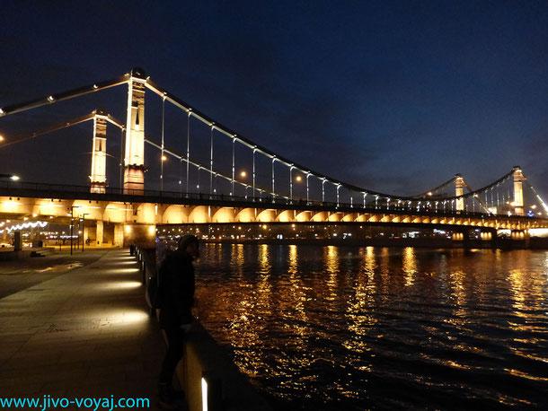 Крымский мост. Вид со стороны Крымской набережной