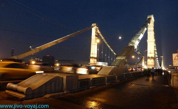 Крымский мост . Вид от метро Парк Культуры