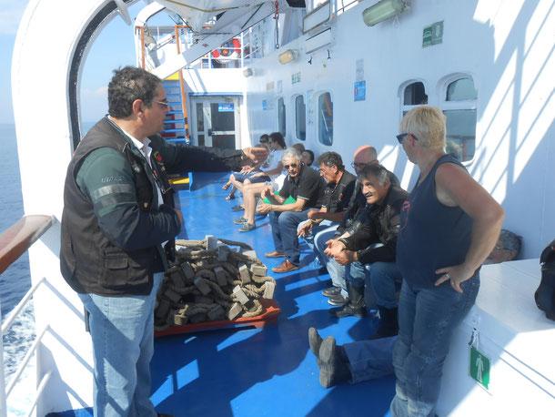 30 Giugno 2015 - Gita all'Isola D'Elba  - Sul traghetto