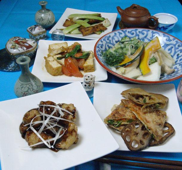 素食(スーシー)コース ¥3,500(税込)※肉、魚介類を一切使わないコースです。二名様よりご予約制となります。