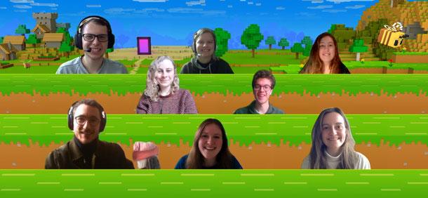Boven v.l.n.r.: Clint, Hedwig, Jennifer. Midden: Ymke, Teun. Onder: Nathan, Anne, Tessa