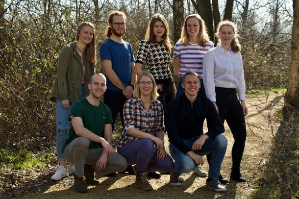 l.t.r.: Merlijn Schram, Chloé de Mortier, Rianne Kluck, Robert Benjamins, Anne Bus, Anne Bruls, Samantha Popma, Max Oostrom