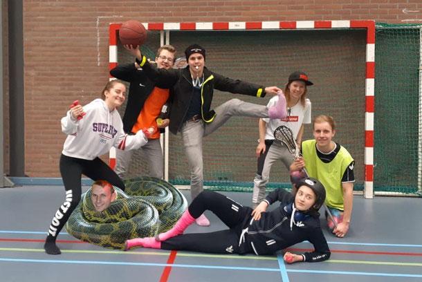 Fltr.: Tessa Stroeken, Tim Bosman, Wouter Janse, Tim Verhoeven, Lieke Verschuuren, Lena Hoffman, and Frank Pieterse