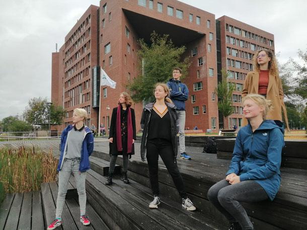 v.l.n.r.: Alger Jorritsma, Julia van Leemput, Sophie Mulders, Rick de Moel, Annika Liefferink, Sam van Zijtveld, Naomi Berbée