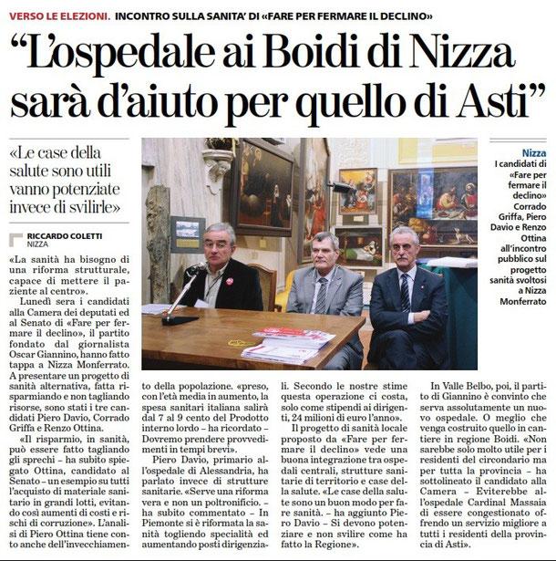 Articolo La Stampa del 21-02-2013