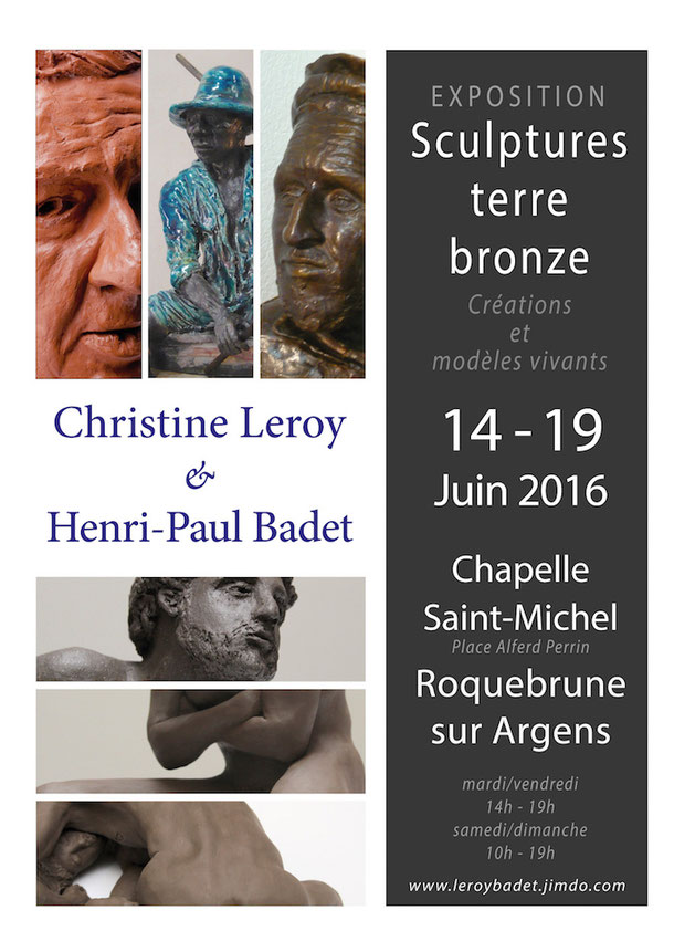 Affiche exposition Christine Leroy et Henri-Paul Badet Roquebrune sur Argens