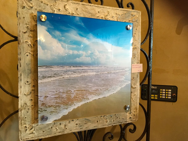 antique ceiling tile with standoff mount--SOLD