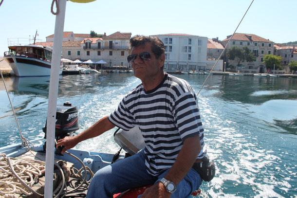 Bootsfahrt mit Fischerboot von Ivan in die Bucht nach Lovrecina ff.