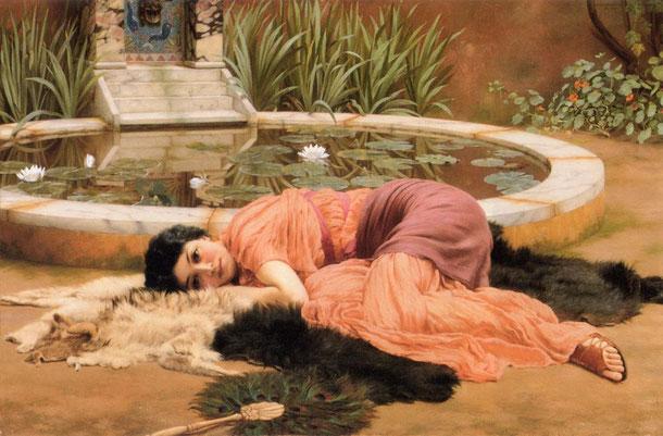 Dolce far Niente, 1904-John William Godward-via Wipedia Commons