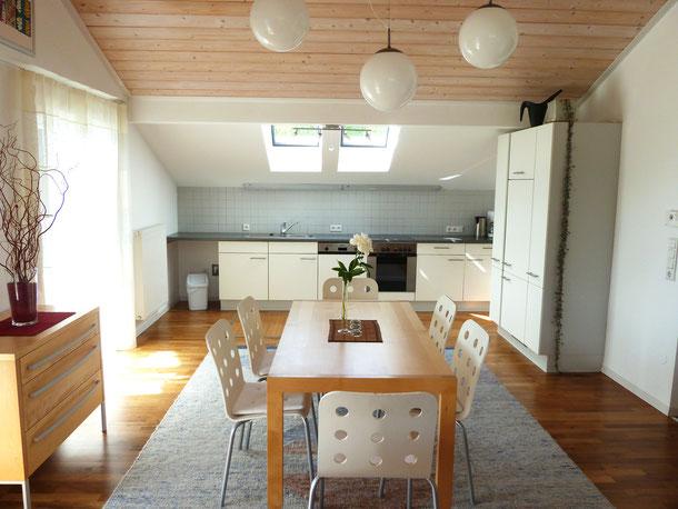 Wohnküche, Ferienwohnung 1