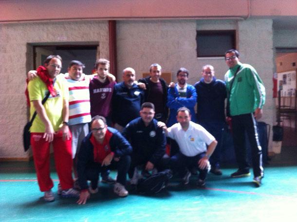 Participantes en la primera jornada de liga