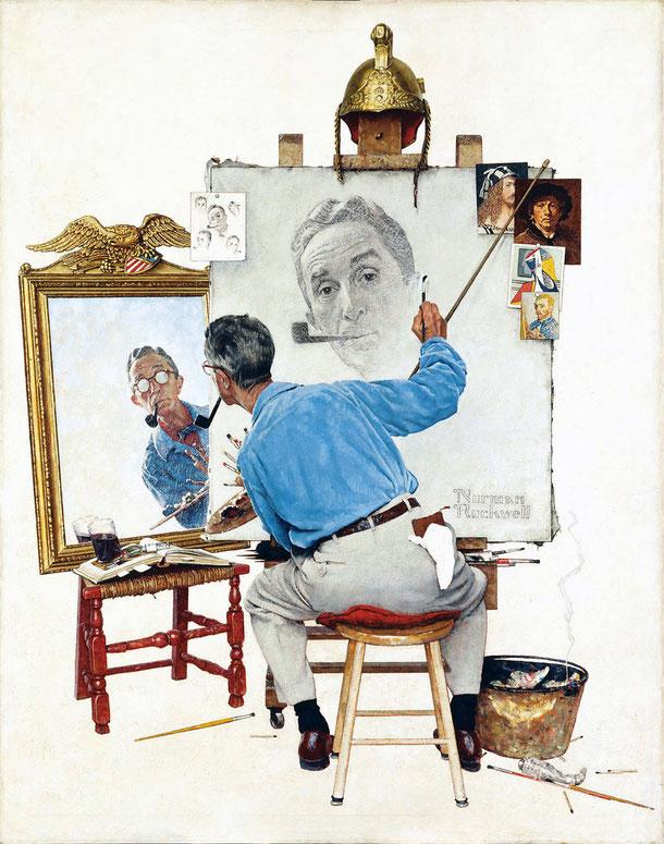 Rockwell, Triple autoportrait (1960)
