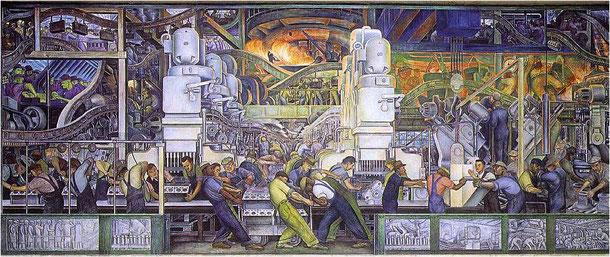 Diego RIVERA, L'homme et la machine (1932-33)