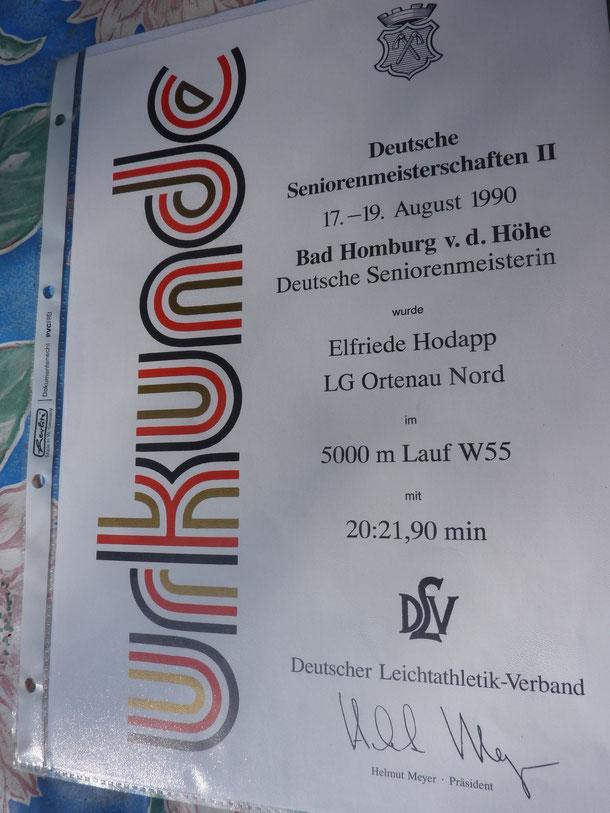 ...der erste deutsche Meistertitel von Elfriede Hodapp
