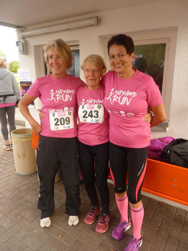 Frauenlauf in Kehl  v.l. Ruth Droll, Elfriede Hodapp, Ilona Stahl