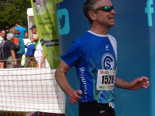 Norbert Hodapp beim Zieleinlauf
